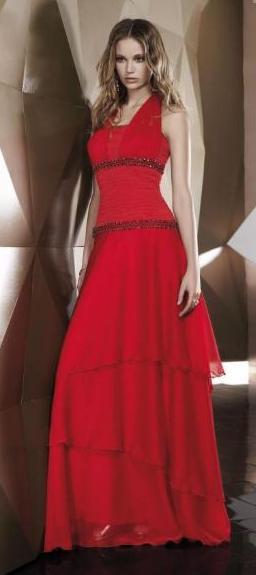 Vestidos para boda de dia color rojo