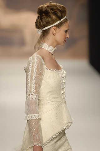 peinado de novia white