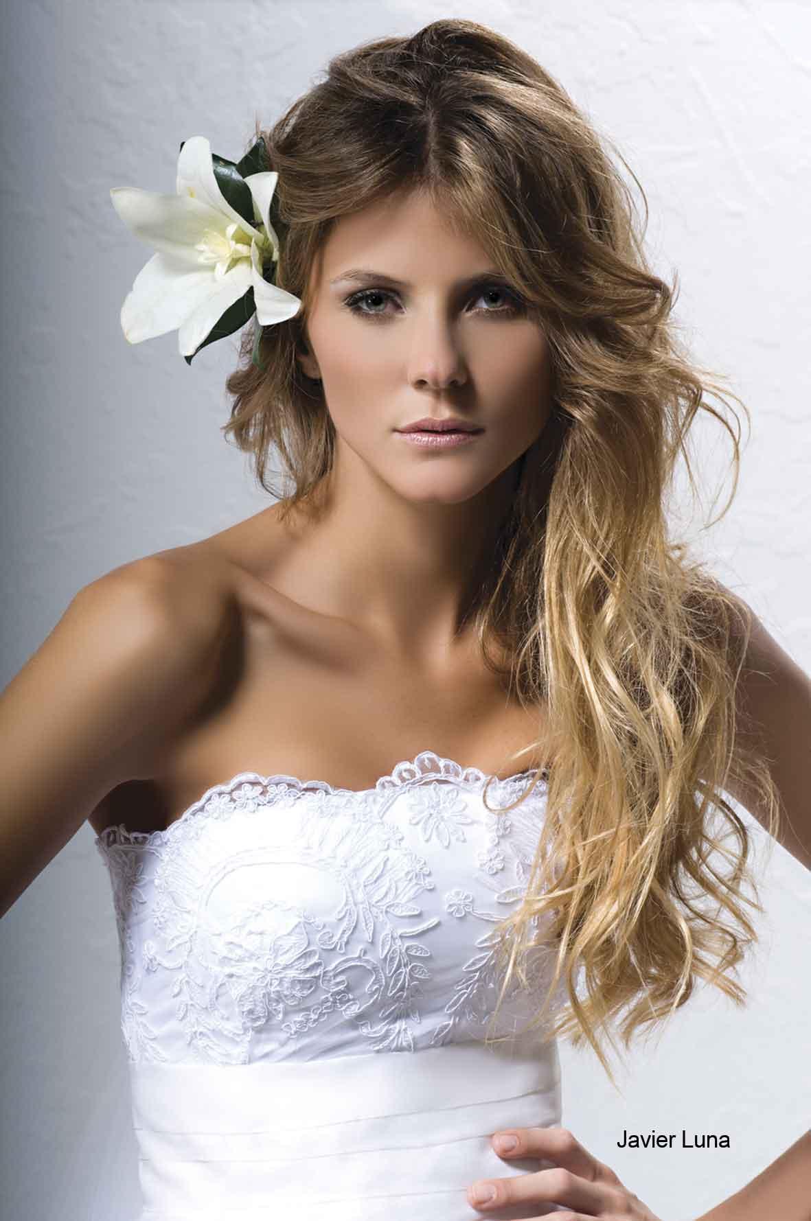Arriba abajo suelto o recogido peinados para el d a de - Peinados de novia con flequillo ...