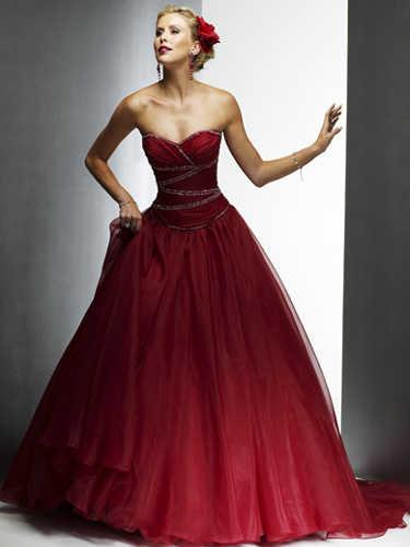 De blanco a negro el color del vestido de novia web de for Dark red wedding dress
