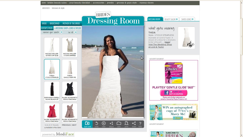 Probador virtual de vestidos de novia