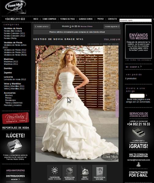 Paginas recomendadas para comprar vestidos de novia