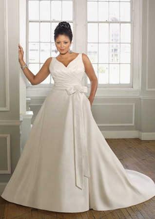 Vestido novia corte imperio para bajitas