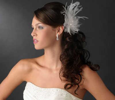 Peinados con plumas para novias web de la novia