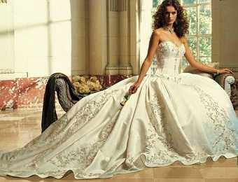 vestido de novia victoriano