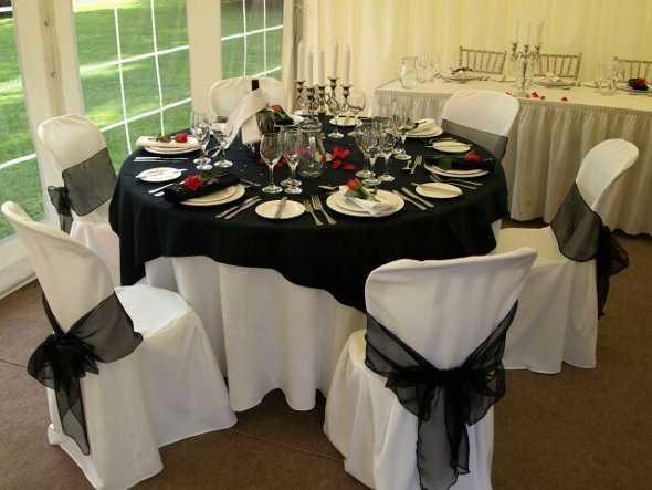 Manteles para boda escoge tu estilo web de la novia - Decoracion salon blanco y negro ...