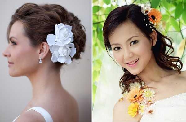 Peinados con flores a un lado