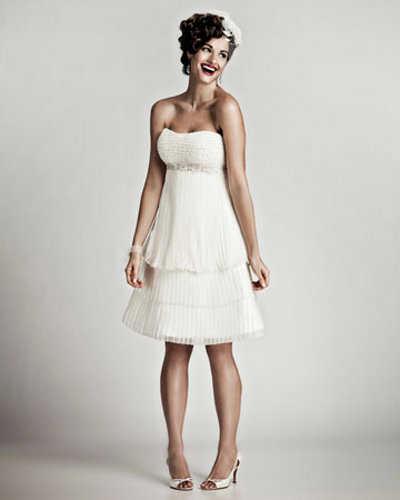 Luce radiante con un vestido de novia en tu matrimonio civil | Web ...