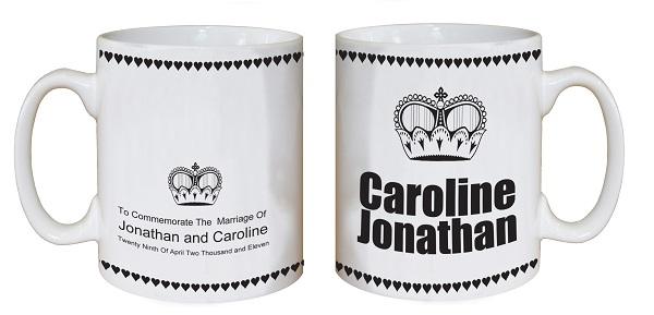 Las tazas personalizadas son un regalo que se ha puesto muy de moda. ¡Regálalo en tu boda!