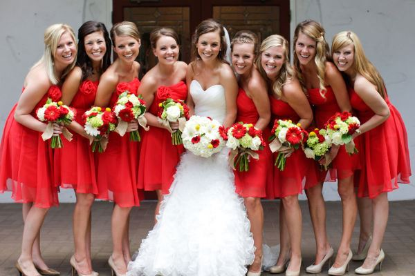 Vestidos de novia y damas de honor