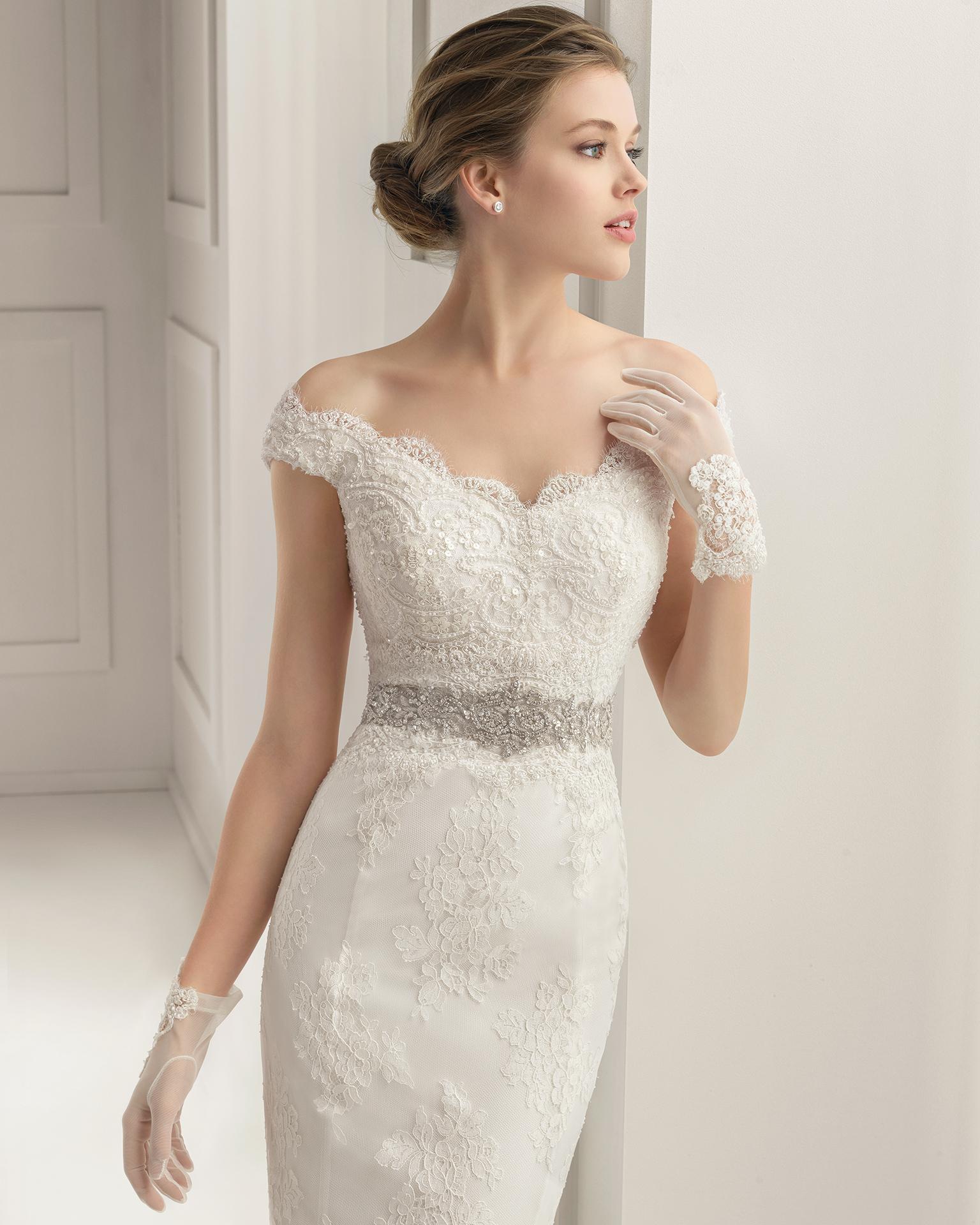 Vestidos de novia para civil con encaje