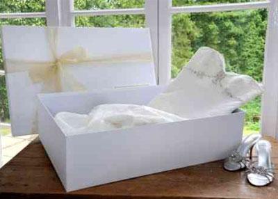 vestido de novia en caja