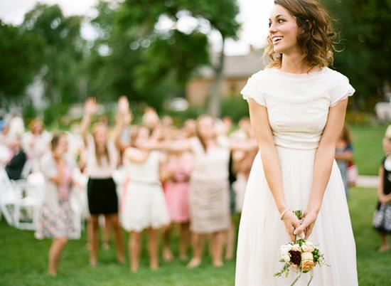 lanzar ramo novia